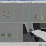SV Büroraum 3D Visualisierung